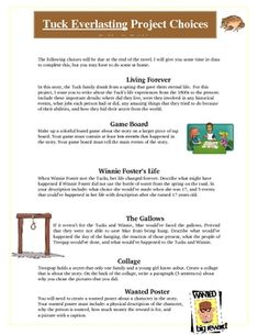 tuck everlasting on pinterest tuck everlasting worksheets and laugh quotes. Black Bedroom Furniture Sets. Home Design Ideas