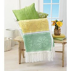 Daisy Filet Throw by Willow Yarns Design Team