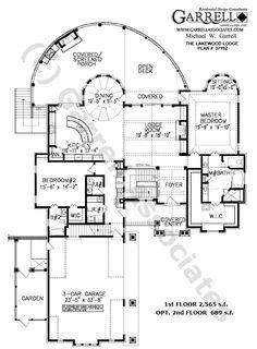 Lakewood Lodge House Plan # 07192, 1st Floor Plan, Mountain Style House Plans, Rustic Style House Plans