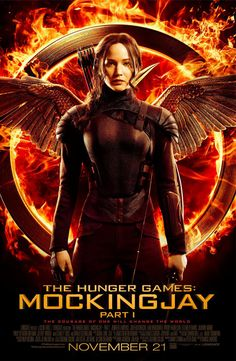 Jennifer Lawrence's Fiery New Mockingjay Movie Poster Ahead of the Trailer Release This Monday!