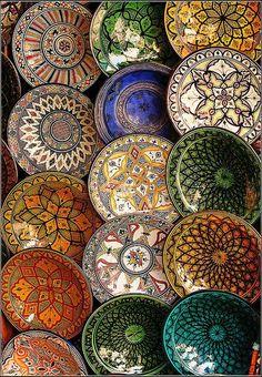#Design #plates #turkish #handpainted #colorful