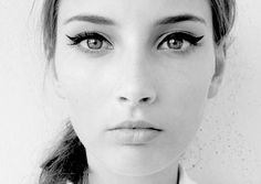 fresh face. vintage eyes.