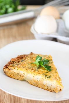 Roasted Cauliflower Frittata
