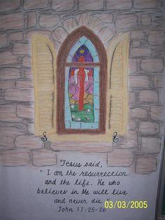 "Jesus said, ""I am the Resurrection...."""
