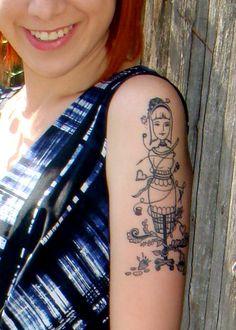 pretty dress form tattoo