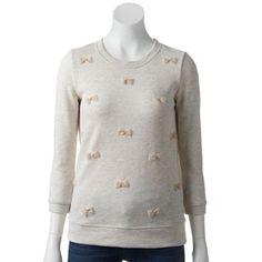 LC Lauren Conrad Bow French Terry Sweatshirt - Women's #Kohls