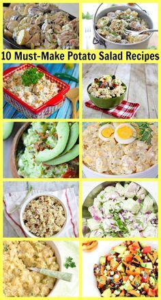 10 Must-Make Potato Salad #Recipes #summer #barbecue #picnic #potatosalad