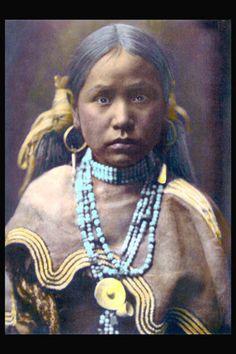 Arapaho Native American girl.