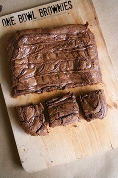 brownie recipes, brownie bowl, one bowl cookies, bowl browni, coconut oil, gluten free, nutella brownies recipe, peanut butter brownies, chocolate brownies