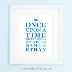 Little Prince Nursery Print  DIY  Personalized  by PaperFoxDesign, $13.50