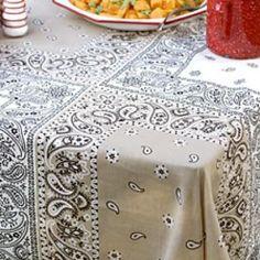 DIY Bandana Tablecloth