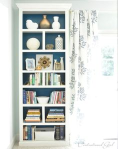 bookcase - add crown to top and sides to basic bookcase