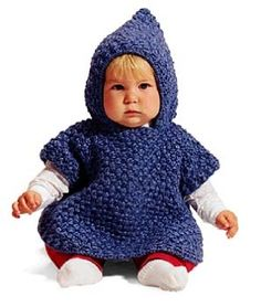 Baby Poncho (free pattern) - more like 'Advanced Beginner' :)