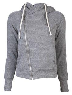 Hoodie with asymmetrical zipper