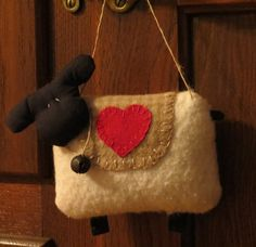 Primitive Easter Sheep Door Hanger Sheep by scarecrowcabin on Etsy, $7.00