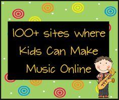livebinder of online music sites for kids