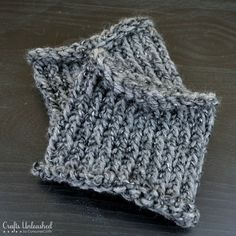 Never even thought of this before - using your knitting loom to make easy boot cuffs!