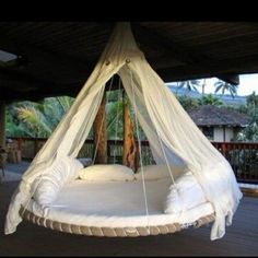 This is a recycled trampoline.