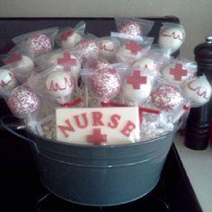 Nursing cake pops #nurse #cakepops #cake pops