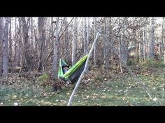 How to Hang a Hammock Without Trees http://rethinksurvival.com/hang-hammock-without-trees-video/