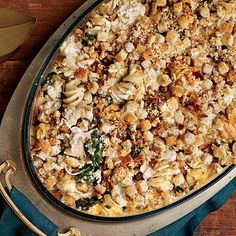 New Turkey Tetrazzini | Loads of spinach and mushrooms freshen up this classic.