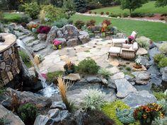 Beautiful back patio area