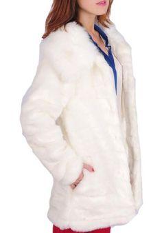 WIIPU women's rabbit fur medium-long faux fur overcoat fox fur coat(J317) - List price: $399.99 Price: $99.99 Saving: $300.00 (75%)