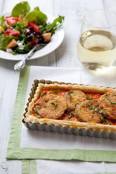 Fried Green Tomato Pimento Cheese Tart | Annie's Eats
