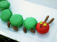 The Very Hungry Caterpillar Macarons
