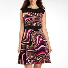 Studio 1 Dress at JC Penny. Love the pattern and the flair of the skirt.