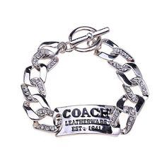 Coach Logo plate Silver Bracelets BZM Collection, the greatest discount, 70% off.