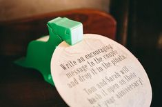 Pinata 'guest book' ~ guests put in a note, couple smashes it open on their first anniversary!