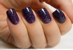 Makeup Makers: Indie Nail Line KBShimmer Develops the Glitter Nail Polish of Your Dreams Nails Polish Art, Colors, Makeup, Hair Beauty, Purple Nails, Glitter Nails, Night Time, Night Sky, Shellac Nails