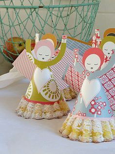 Christmas paper angels.....so precious!