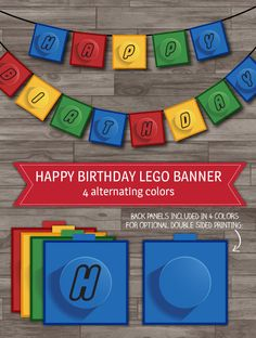 Lego Party Banner Lego Birthday Party Decoration by LaBelleStudio