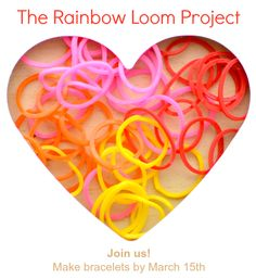 A service project opportunity for kids using the Rainbow Loom!