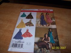 3823 Simplicity Pattern Misses Halter Dress with by stephaniesyarn, $8.00