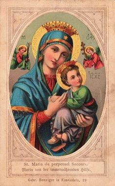 Early Graphic - Madonna with Child - The Graphics Fairy