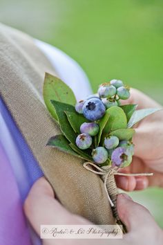 Blueberry boutonniere