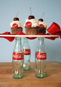cherry coke float cupcakes !