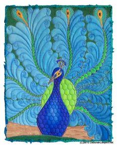 Fabulous peacock quilt!