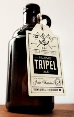 Tripel Beer label