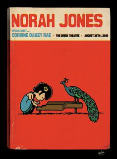 artists, peanut, gig poster, norah jone, music posters, classic movies, theatre posters, concert posters, poster prints