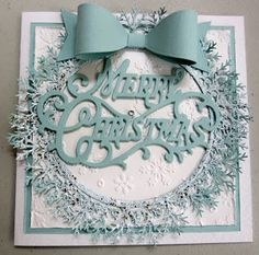 Artdeco Creations: Christmas Card Creating | #CoutureCreations Magical Christmas Decorative Dies, Nesting Dies