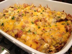 Loaded Bacon Ranch Potato Bake