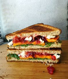 is a delicious DIY Roasted Yam, Cranberry and Feta Cheese Sandwich ...