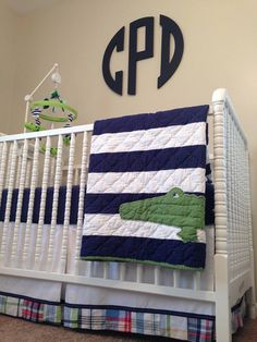 Monogram over crib -