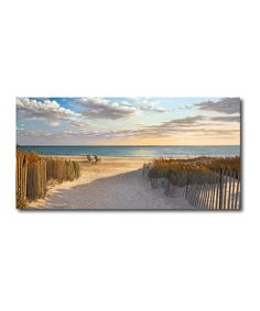 Take a look at this Sunset Beach Canvas Wall Art by COURTSIDE MARKET on #zulily today!