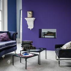 Lila modernen Wohnzimmer Wohnideen Living Ideas Interiors Decoration
