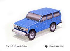 Simple Toyota FJ60 Land Cruiser paper model | http://papercruiser.com/downloads/toyota-fj60-simple/